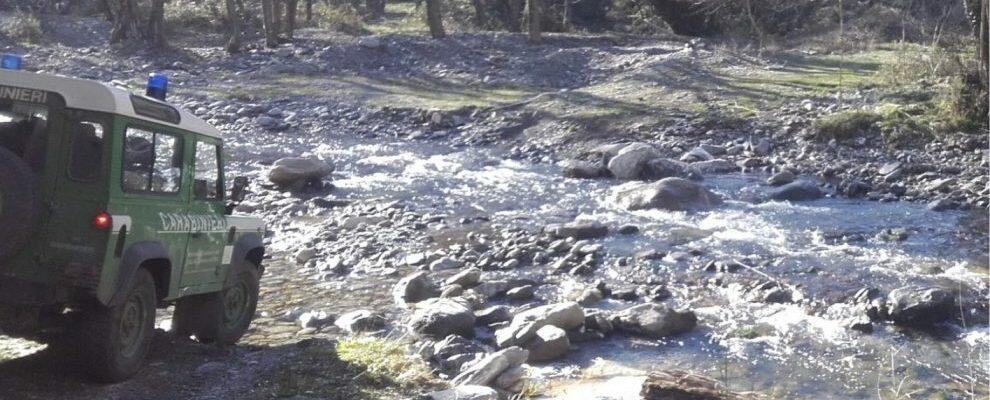 Sorpresi a pescare abusivamente all'interno del Parco Nazionale d'Aspromonte, denunciate due persone