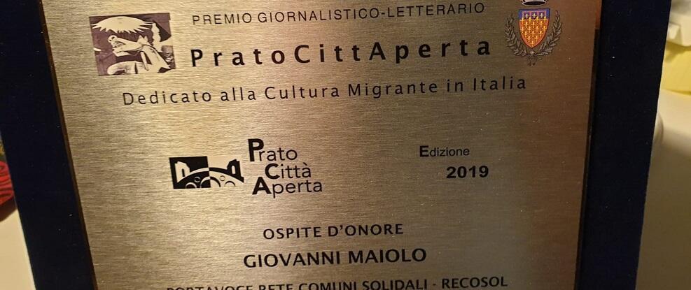Giovanni Maiolo premiato a Prato insieme a Gad Lerner e Diego Bianchi