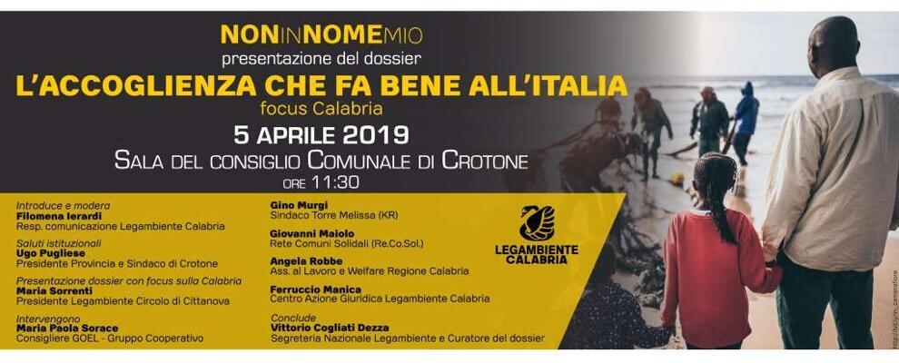 L'accoglienza che fa bene all'Italia: presentato il dossier di Legambiente sulla buona accoglienza