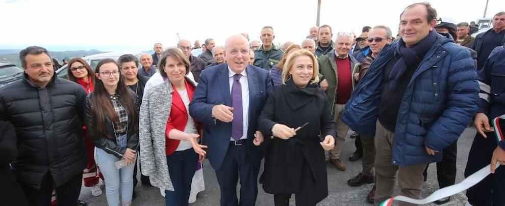 Oliverio a Ursini di Caulonia per l'inaugurazione dei lavori di riqualificazione