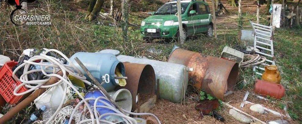 Idraulico forestale crea discarica dentro al Parco d'Aspromonte