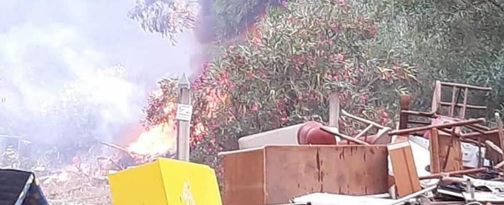 Nubi tossiche dall'ex stazione di raccolta rifiuti a Focà: la denuncia di AttiviAmo Caulonia