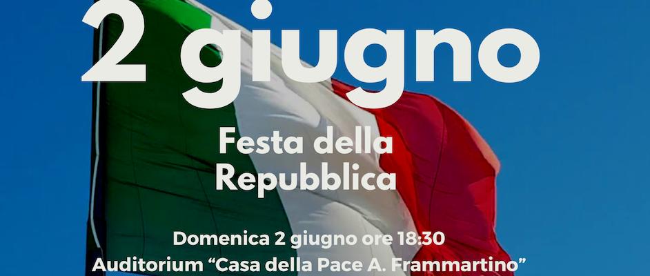 """Caulonia, domani le celebrazioni della Festa della Repubblica all'Auditorium """"Angelo Frammartino"""""""