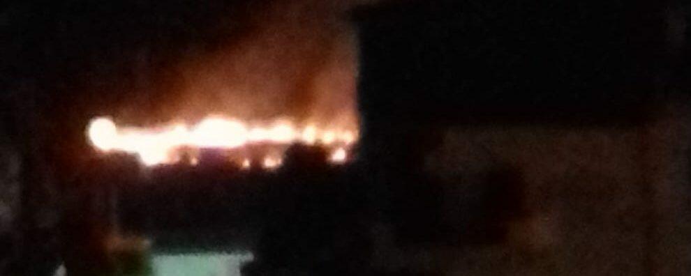 Incendio a Caulonia marina, interviene la Protezione civile