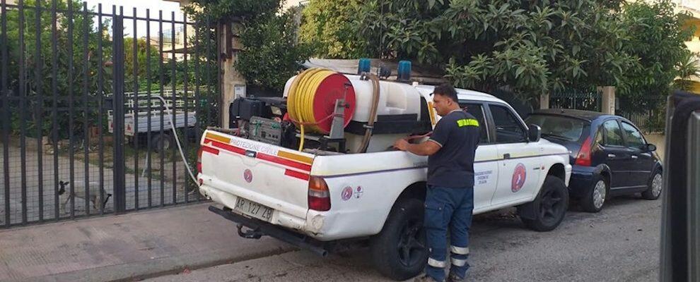 Emergenza acqua all'oasi di Bovalino. In aiuto volontari della protezione civile di Caulonia