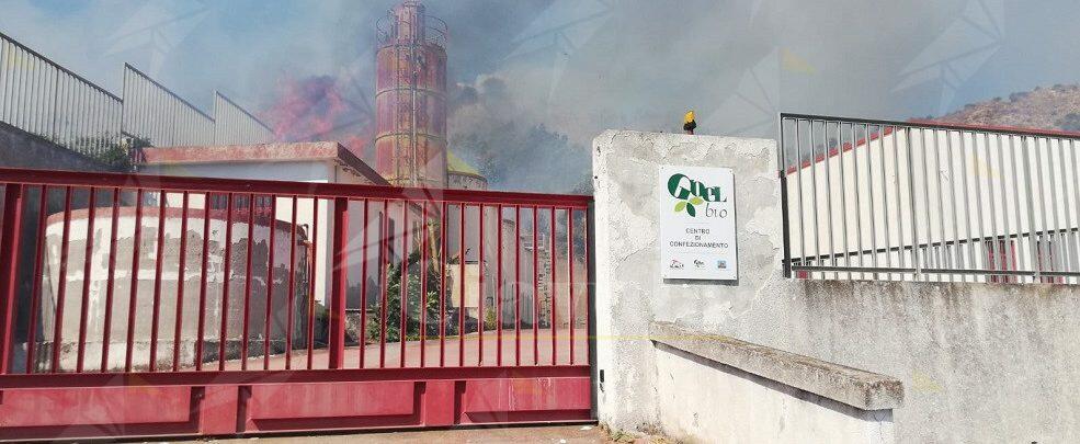 Incendio in località Dimilio di Caulonia