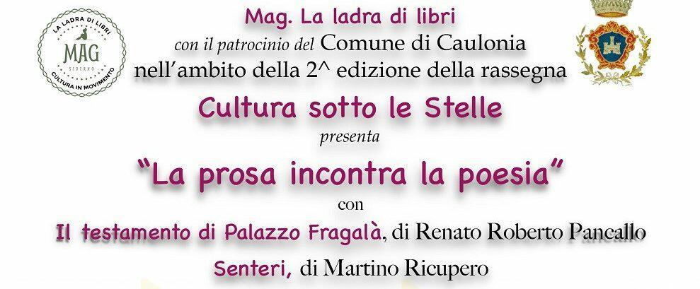 """MAG organizza """"Cultura sotto le stelle"""" a Caulonia centro"""