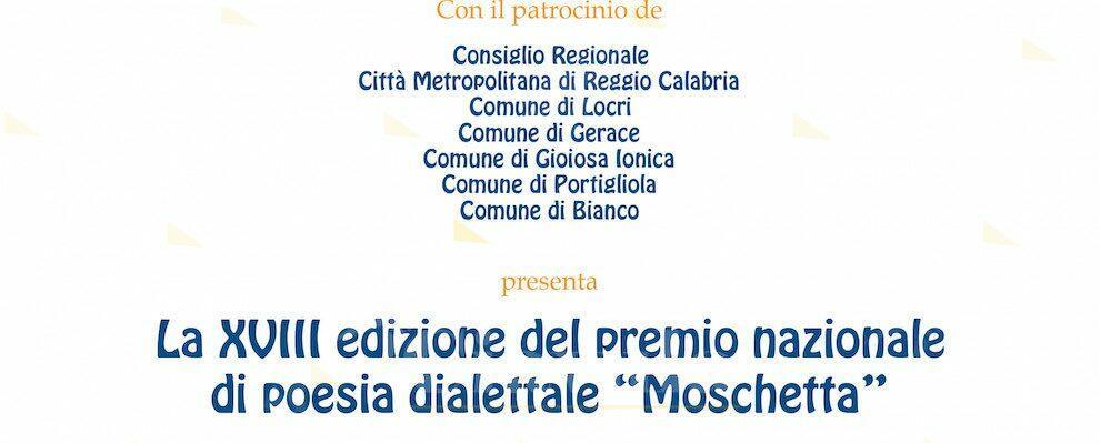 """A Locri la diciottesima edizione del premio nazionale di poesia dialettale """"Moschetta"""""""