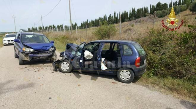 Incidente stradale tra due automobili