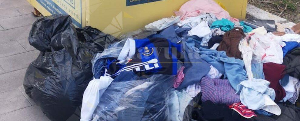 La maglia dell'Inter nella spazzatura… a Caulonia una metafora di come andrà il campionato?