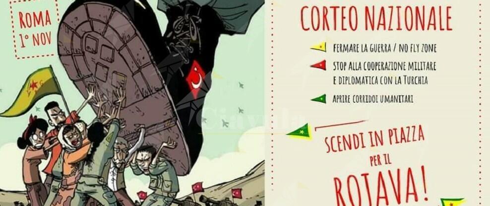 Difendiamo il Rojava, fermiamo la guerra del sultano turco