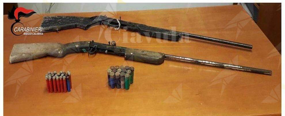 Trovati a Platì due fucili e svariate munizioni nascosti tra la vegetazione