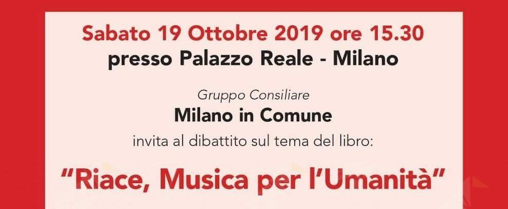 """Mimmo Lucano a Milano per la presentazione del libro """"Riace, Musica per l'Umanità"""""""