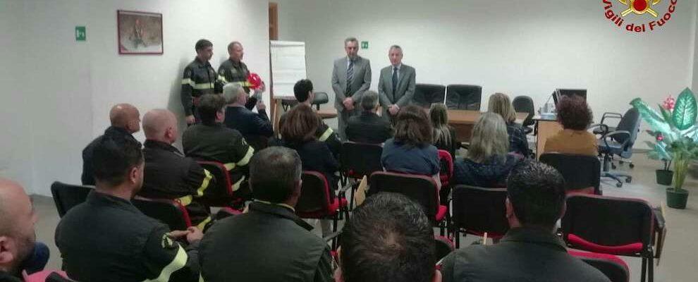 Esplosione cascina ad Alessandria: il Prefetto di Vibo fa visita al Comando Provinciale dei Vigili del Fuoco