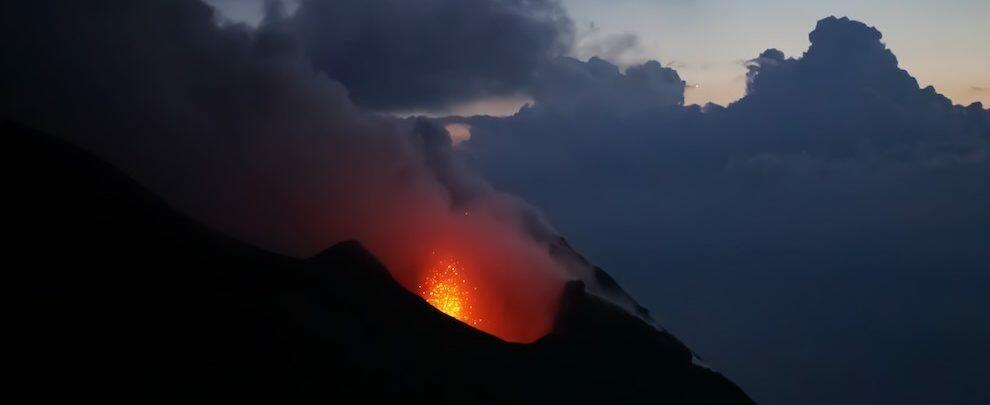 La Protezione Civile lancia l'allerta gialla per il vulcano Stromboli
