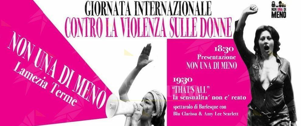 """""""Non una di meno"""" Lamezia organizza la giornata contro la violenza sulle donne"""