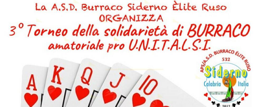 A.S.D. Burraco Siderno e UNITALSI, terzo torneo della solidarietà