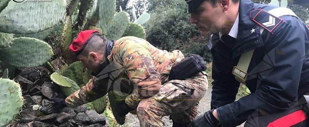 Fucile e cartucce trovati dai carabinieri nella Locride