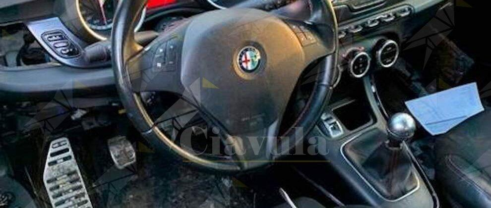 Trovata auto rubata in una masseria. Un arresto e una denuncia