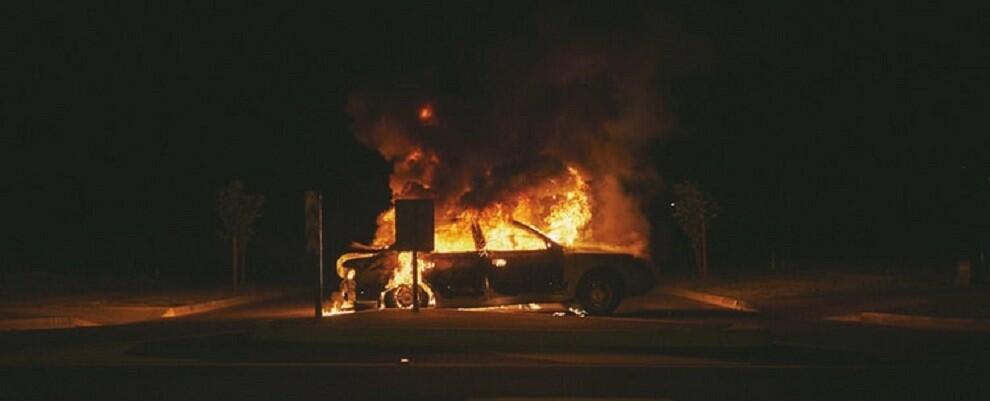 Incendiata auto di un avvocato di Camini. Di fianco una testa mozzata di pecora
