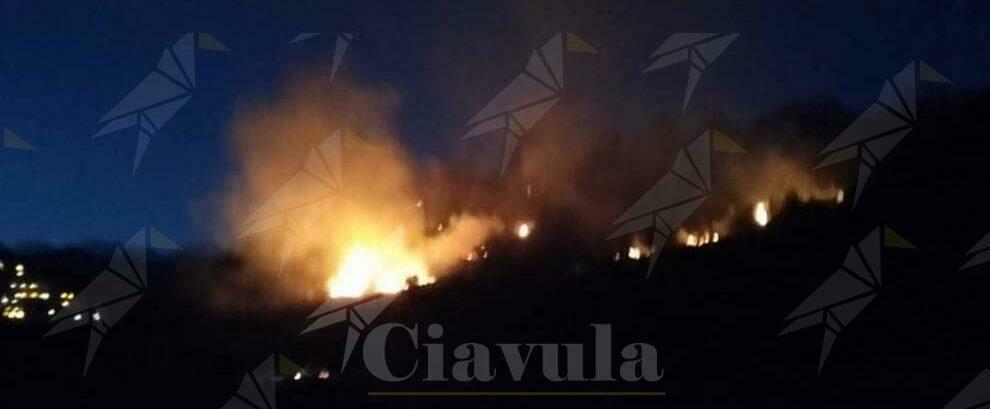 Incendio a San Giovanni di Gerace