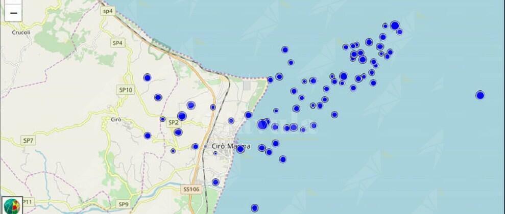 70 scosse di terremoto in pochi giorni. Trema Cirò Marina