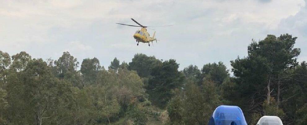 Precipita in un burrone in Calabria, interviene l'elisoccorso