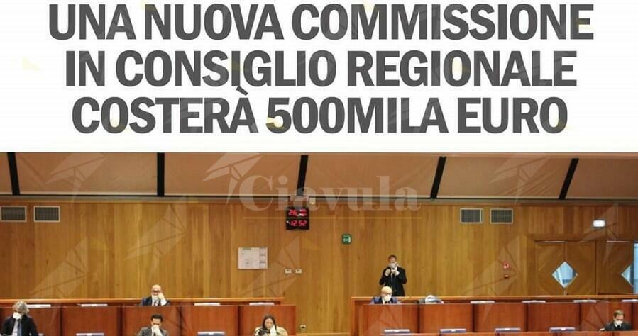 La Santelli crea commissione che costerà ai calabresi 500 mila euro