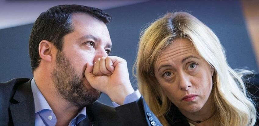 Salvini e Meloni, pagati dagli italiani per non lavorare