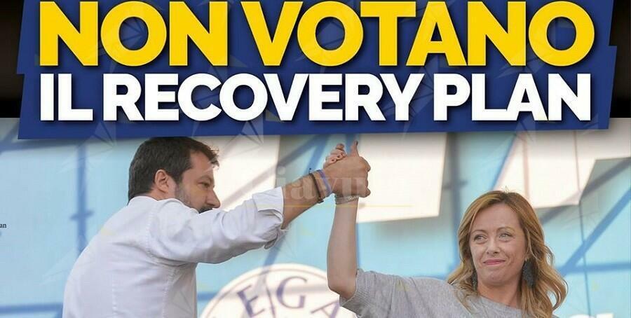 Salvini e Meloni votano ancora contro gli interessi dell'Italia, altro che prima gli italiani!