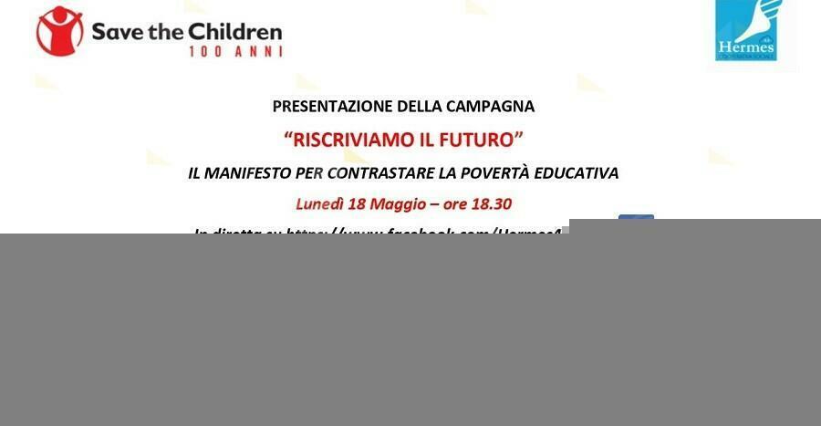 La cooperativa Hermes presenta il manifesto di Save the Children contro la povertà educativa