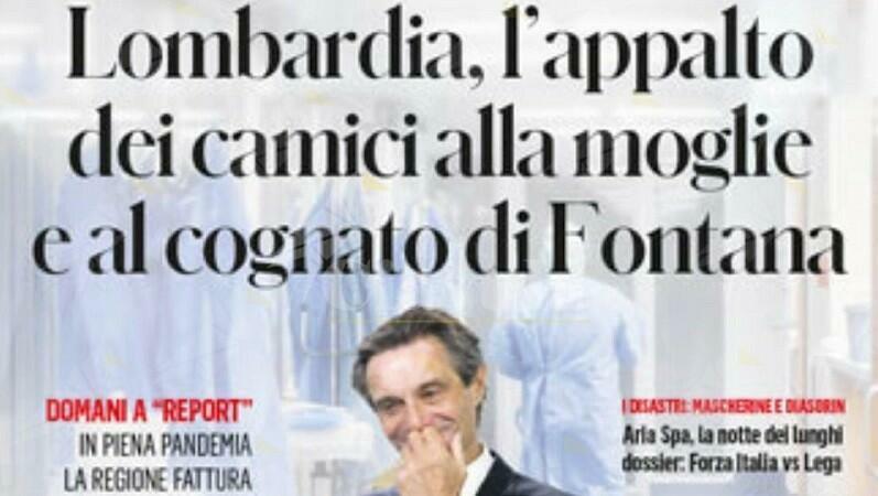 Mezzo milione di euro al cognato e alla moglie di Fontana. L'indecenza della destra italiana