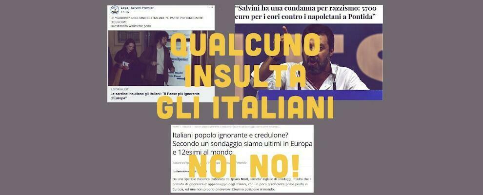 """Le Sardine rispondono alle accuse della destra: """"Qualcuno insulta gli italiani. Noi no"""""""