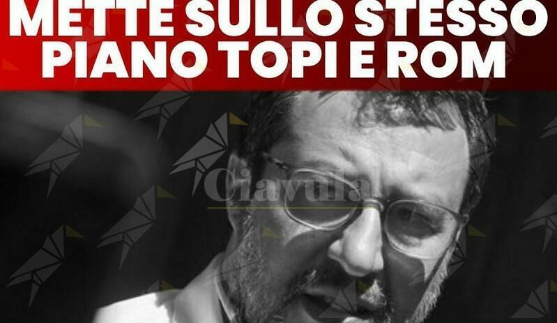 """Deputati PD: """"Salvini mette sullo stesso piano i topi e i rom"""""""