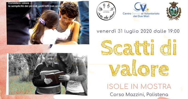 """Polistena: Questa sera la mostra """"Scatti di Valore"""" – Sguardi sui valori del Volontariato"""