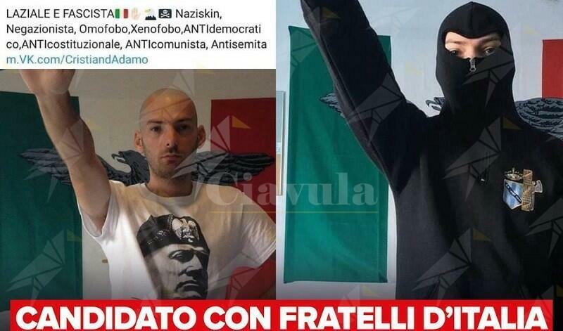 """""""Sono fascista"""". E la Meloni lo candida"""