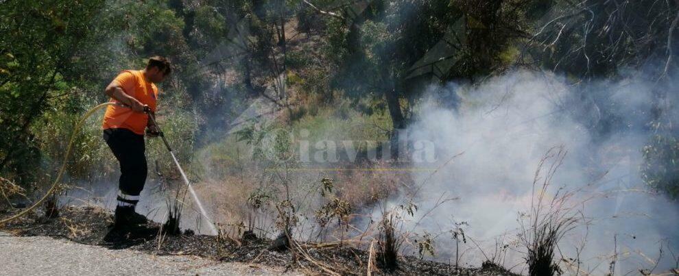 Caulonia, incendio nella frazione Carrubara