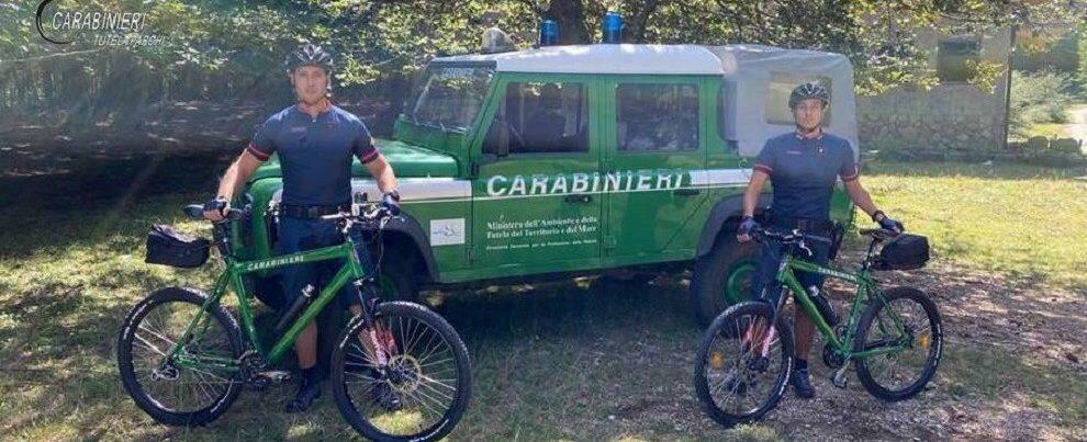 Carabinieri in bici, a ferragosto controlli nel Parco Nazionale d'Aspromonte