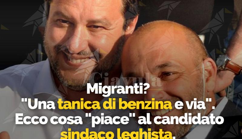"""Migranti: """"Una tanica di benzina e via"""", sotto il commento osceno spunta il like del candidato sindaco leghista"""