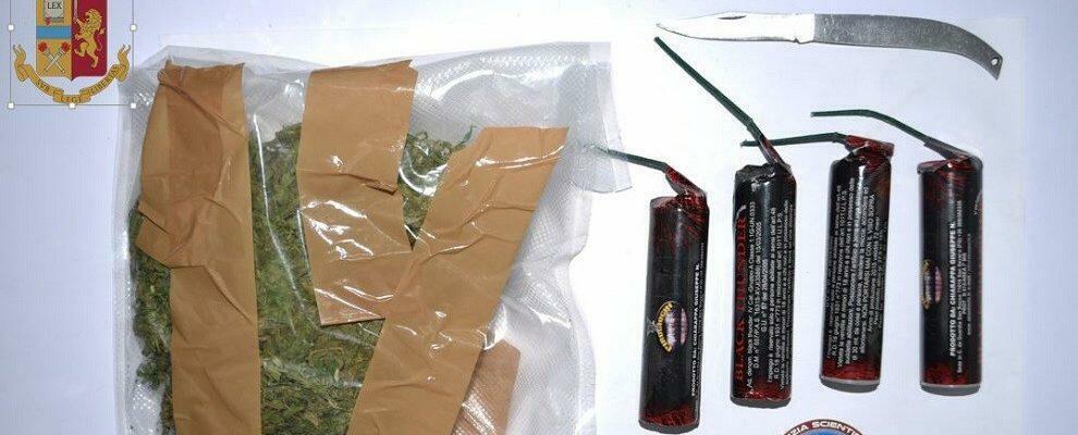 Nascondeva marijuana sotto il sedile dell'auto, un arresto in Calabria
