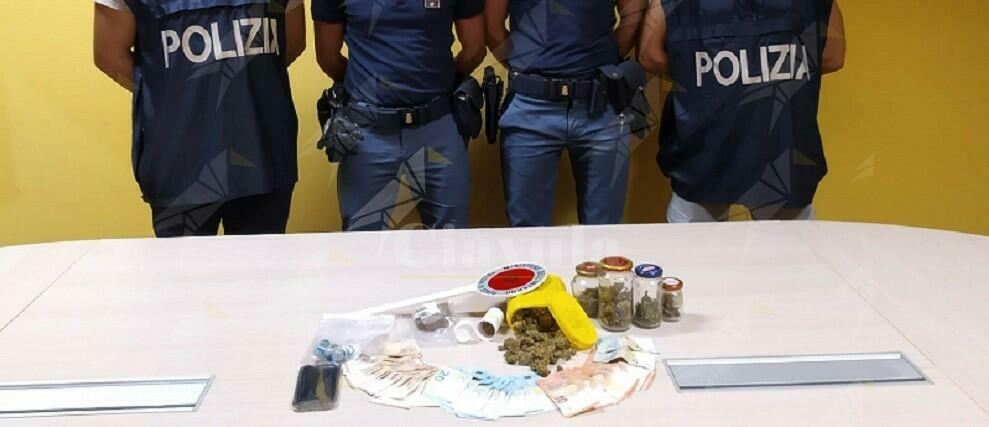 Sorpreso con 60 grammi di hashish e 100 di marijuana. Arrestato