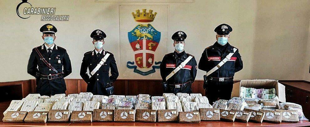 Ardore Marina: fermati sulla S.S. 106 con 17kg di cocaina e 5 milioni di euro in contanti, arrestati