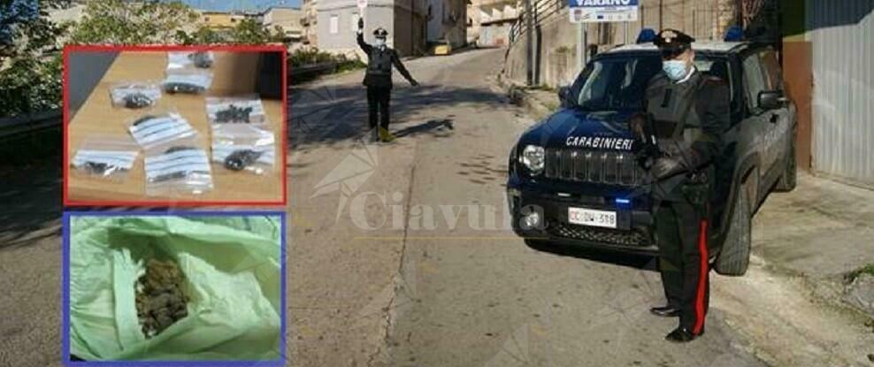 Blitz antidroga dei carabinieri, un arresto e quattro denunce per spaccio ed uso di stupefacenti