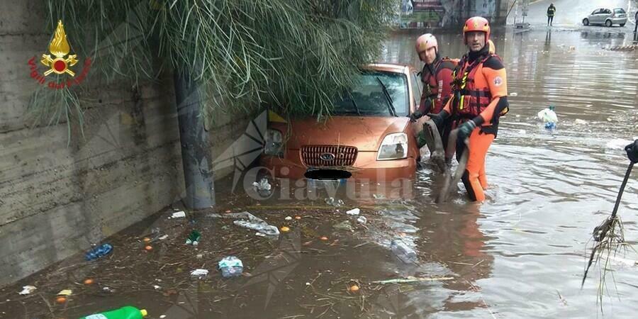 Forti temporali in Calabria, gravi disagi e allagamenti a Reggio