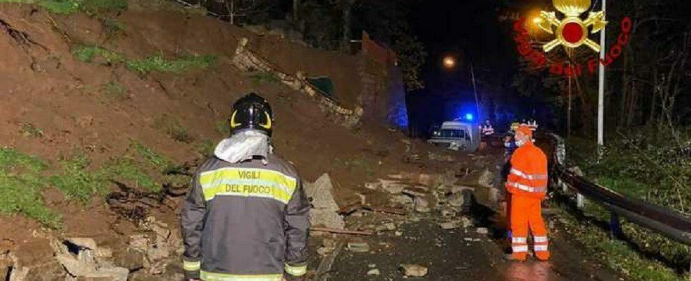 Calabria: frana in strada a causa del maltempo, numerosi gli interventi dei vigili del fuoco