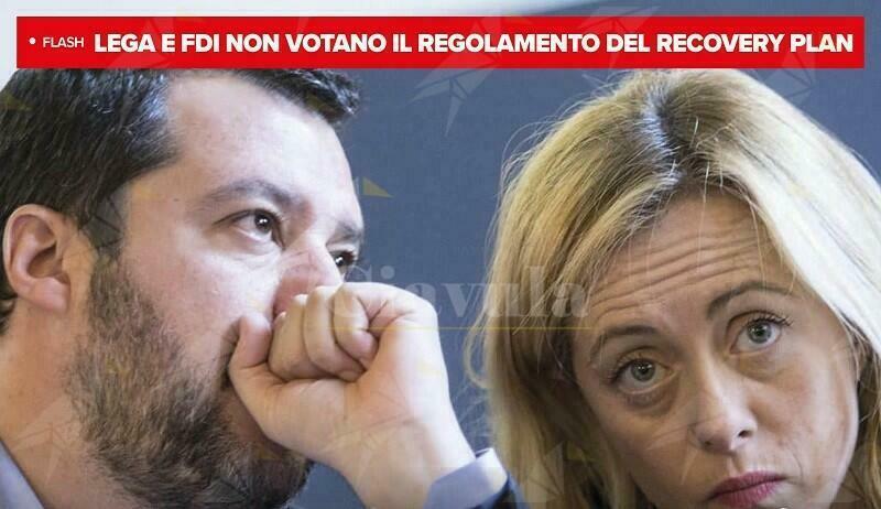 Ancora una volta Salvini e Meloni voltano le spalle all'Italia