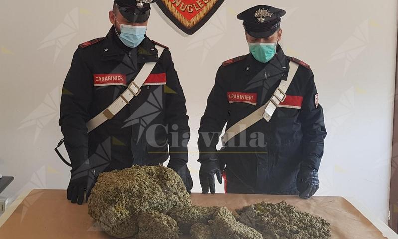 Calabria: Sorpreso sulla  SS 106 con 5 kg di marijuana nell'auto, arrestato