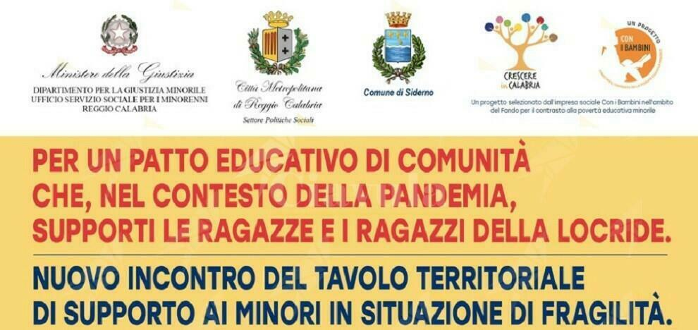 Nuovo incontro del tavolo territoriale di supporto ai minori residenti nella Locride in condizione di fragilità