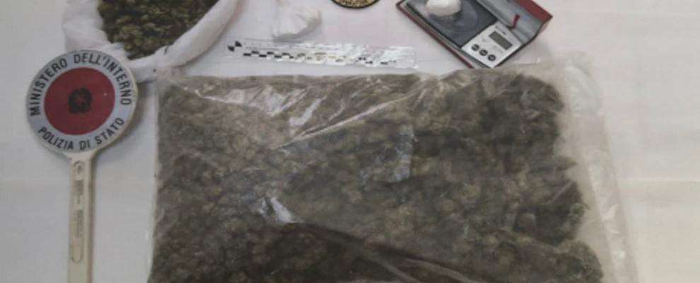 Beccato in casa con oltre 1kg di marijuana, in manette un calabrese