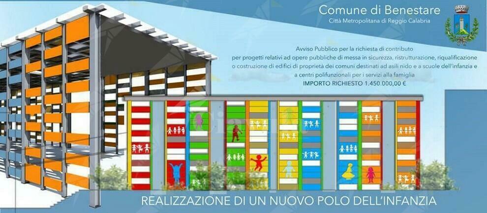 Benestare, approvato il progetto per il nuovo polo scolastico dell'infanzia. Costerà 1 milione e 450 mila euro